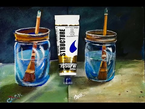 How To Paint Water in a  Glass Jar Recorded LIVE with Ginger