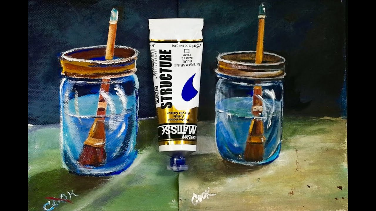 How to paint water in a glass jar recorded live with ginger cook how to paint water in a glass jar recorded live with ginger cook youtube reviewsmspy