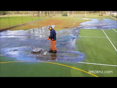 Jetclenz Pressure Washing Tennis Court Cleaning