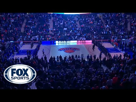New York Knicks honor the victims in Paris with French national anthem