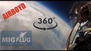 """MiGFlug MiG-29 """"Edge of Space"""" Flight 360°"""