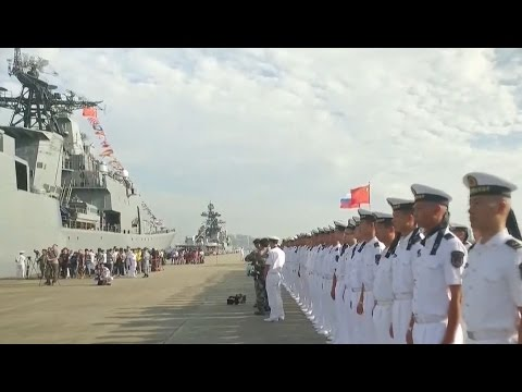 Russia and China launch joint naval drill in South China Sea