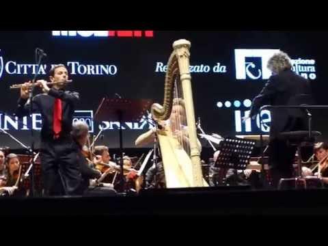 Pretto, Belmondo, Sardelli. Mozart, concerto per arpa e flauto in do K. 299. I. Allegro