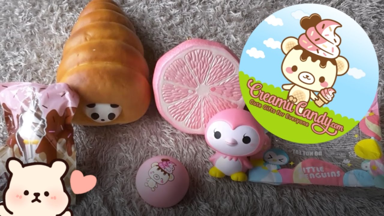 BEST SQUISHY PACKAGE EVER!!!! CreamiiCandy Squishy Package - YouTube