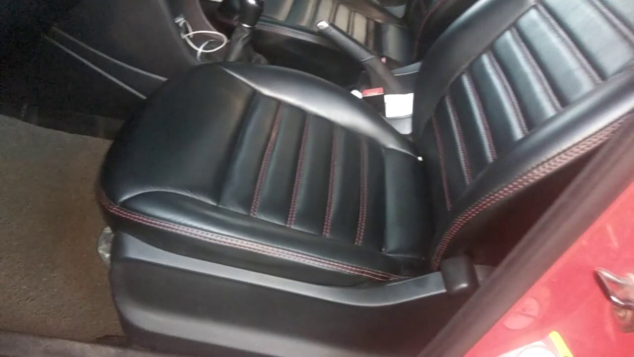 vw polo nappa leather car seat covers polo interior accessories youtube. Black Bedroom Furniture Sets. Home Design Ideas