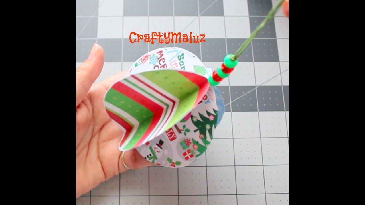 Haz adornos navide os esfera de papel f ciles de hacer - Como hacer decoraciones navidenas ...