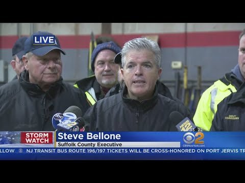Suffolk County Exec. Steve Bellone On Storm Conditions