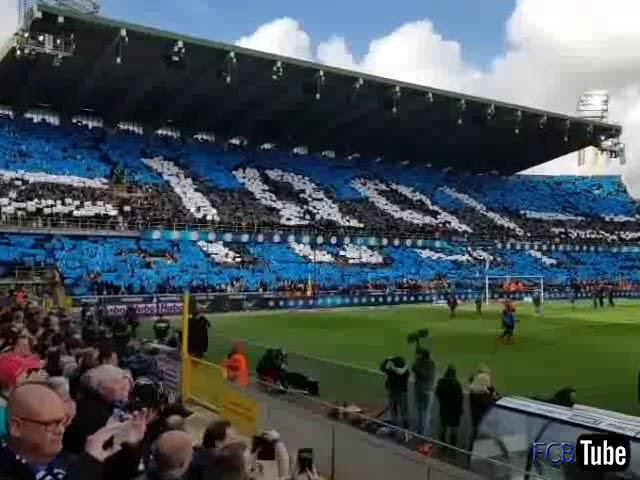 2018-2019 - Club Brugge-Anderlecht - Tifo Voor De Match