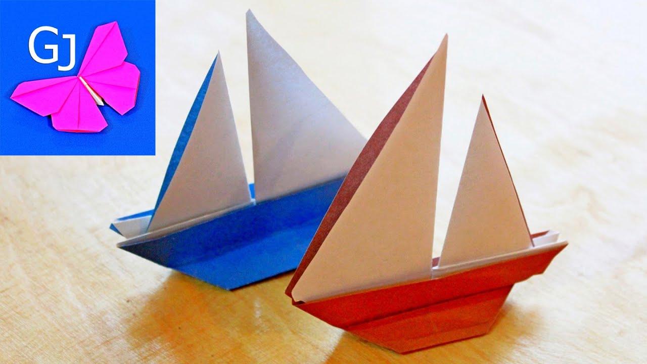 Схема оригами кораблик детей
