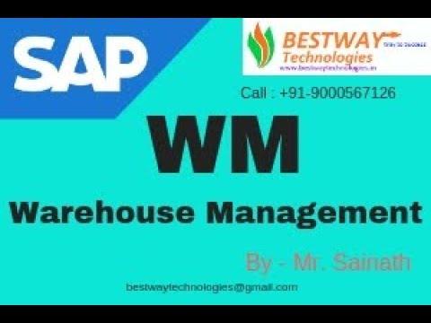 SAP WM Online Training Institute Bangalore Hyderabad