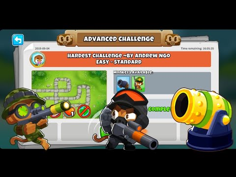 Btd6 Advanced Challenge - Wednesday 4th September 2019 - Hardest Challenge