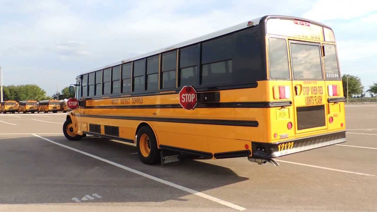 Thomas Built Buses >> 2013 Thomas C2 Start Up/Pull Out/Back In - YouTube