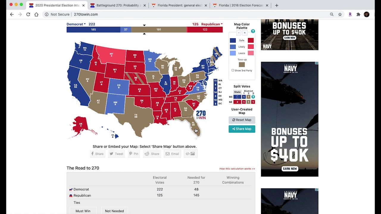 Presidential Election 2020 Prediction as of July 1, 2020