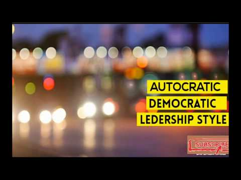Advantages/Disadvantages Of Autocratic And Democratic Leadership