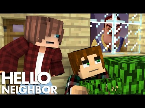 Minecraft Hello Neighbor - How To Sneak Into The Neighbors House (Minecraft Roleplay)