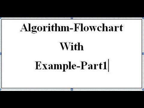 Algorithm-Flowchart with Example-Part1