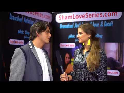 Marc Gordon on red carpet at launch event of Sham Love Series