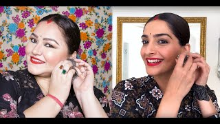 Sonam Kapoor Inspired Makeup Tutorial from the video 90s Bollywood Beauty Secrets | Vogue