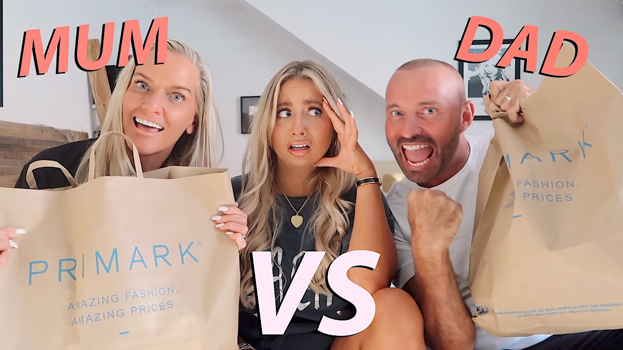 Mum VS dad!! Primark outfit challenge!