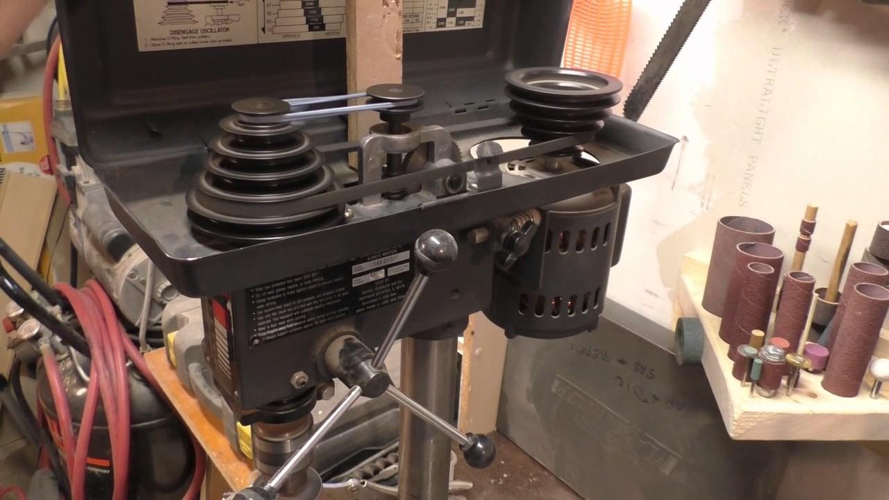 Drill Press Oscillating Sander Belt Hack Youtube