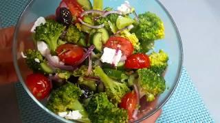 САЛАТ ИЗ БРОККОЛИ. Как вкусно и быстро приготовить брокколи  Broccoli salad  / Brokoli salatası