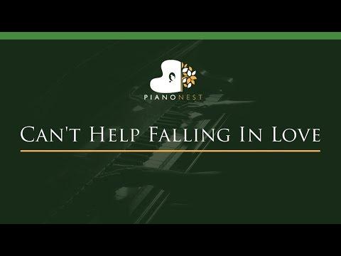 Can't Help Falling In Love - LOWER Key (Piano Karaoke / Sing Along)