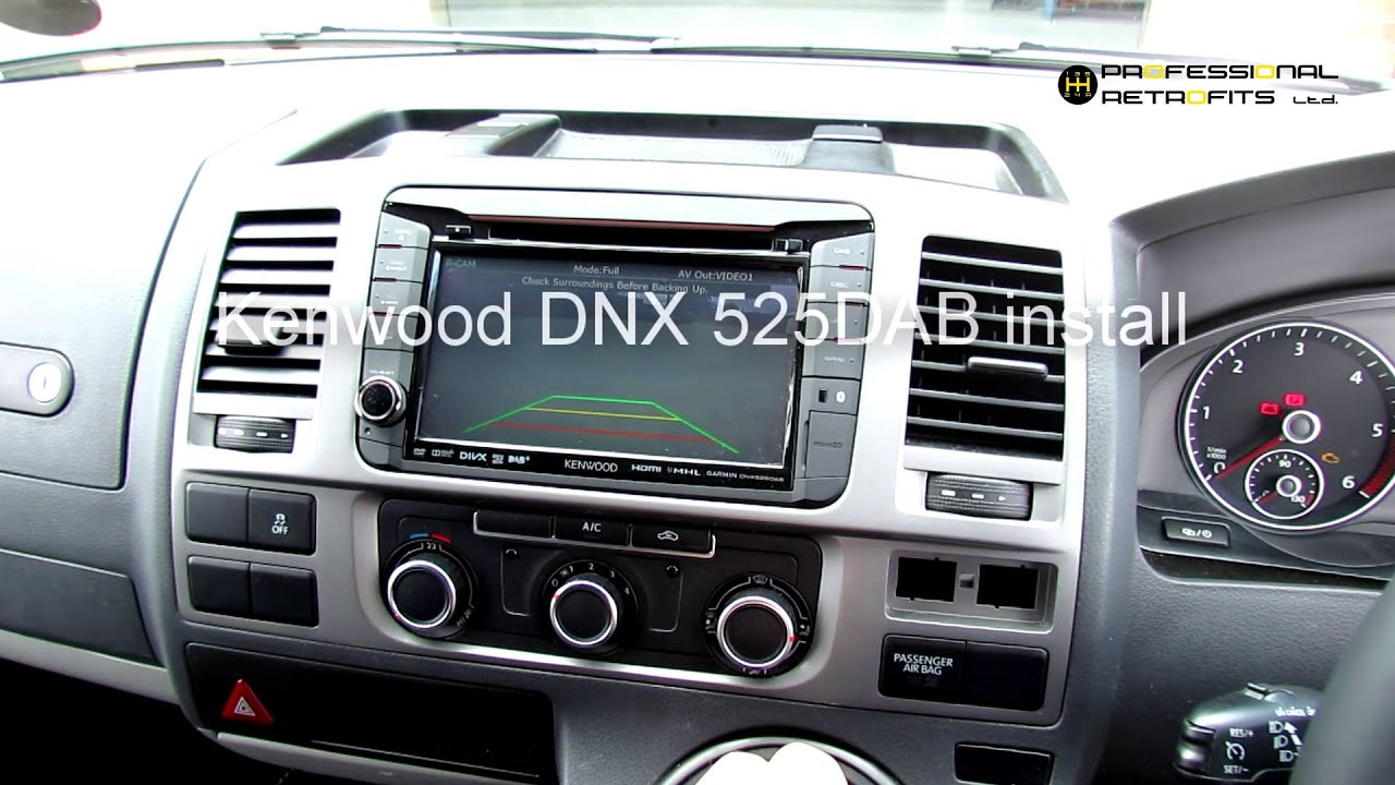 kenwood dnx516dabs installed into 2015 volkswagen t. Black Bedroom Furniture Sets. Home Design Ideas