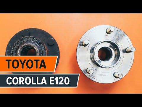 How to changerear wheel bearing onTOYOTA COROLLA E120 TUTORIAL   AUTODOC