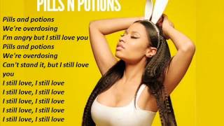 Repeat youtube video Nicki Minaj - Pills & Potions with Lyrics (Instrumental)