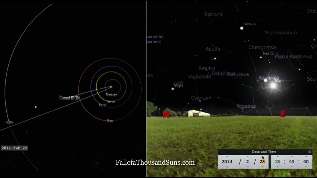 Comet ISON Orbital Path through the Constellations - YouTube