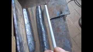 Сварка пластин электродами УОНИИ (нижнее положение)(Welding steel plates.Как варить пластины электродами с основным покрытием УОНИИ 13/55., 2015-07-11T06:05:01.000Z)