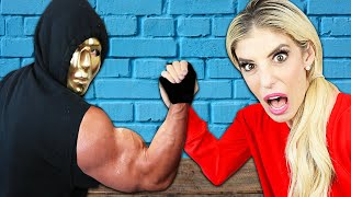 Can You Beat This Girl at Arm Wrestling? (Final Game with Surprising End to Tunnel System Mystery)