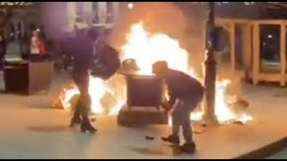 CAUGHT ON CAMERA: Montreal is burning because of COVID curfew