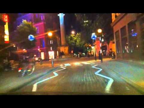 Night Driving in London. Soho and the West End