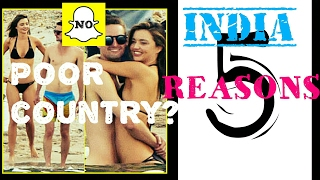 5 REASONS WHY INDIA IS NOT POOR | SNAPCHAT CEO EVAN SPIEGEL  #BoycottSnapchat