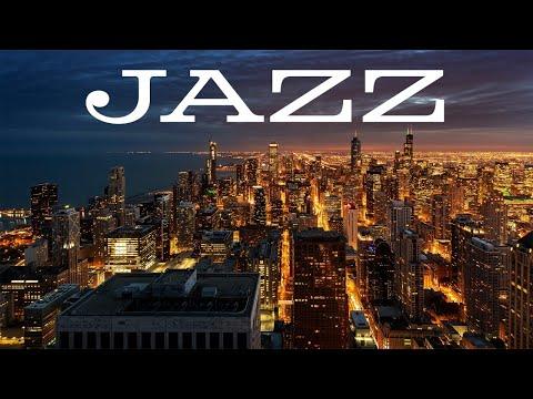 Relaxing Jazz In The Night - Delicate Piano JAZZ &  Lights of Night City - Night Traffic JAZZ