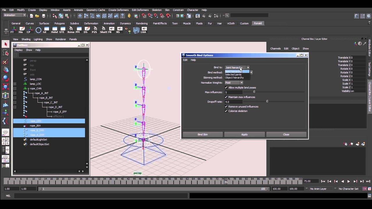 Maya Rope Rigging Tutorial - YouTube