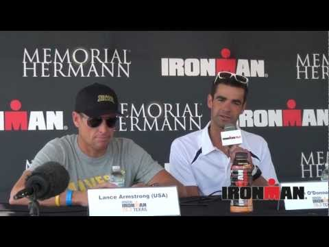 Marino Vanhoenacker and Tim O'Donnell comment on the Lance Factor, 2012 Ironman 70.3 Texas