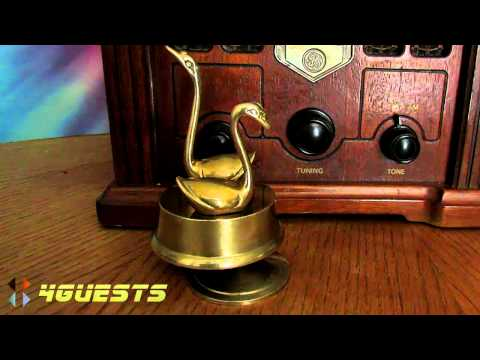 BRASS SWAN WIND-UP MUSICAL, PLAYS LOVE STORY