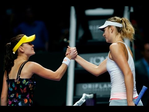 Sharapova VS Radwanska Highlight 2014 RR