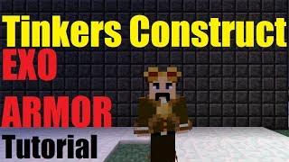 Minecraft Tutorial: Exo armor Tinkers Construct