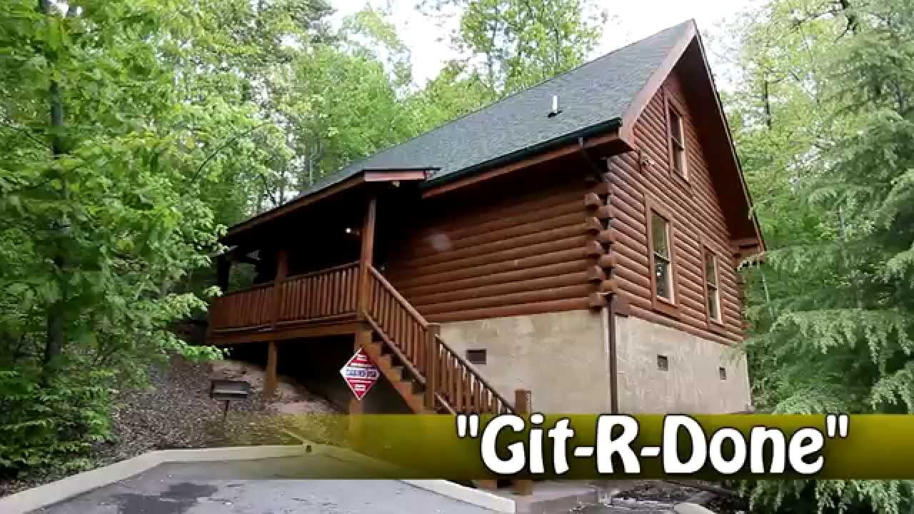 Git R Done Honeymoon Cabin In The Smoky Mountains Near Dollywood Cabins Usa 2013