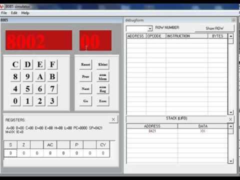 8085 simulator