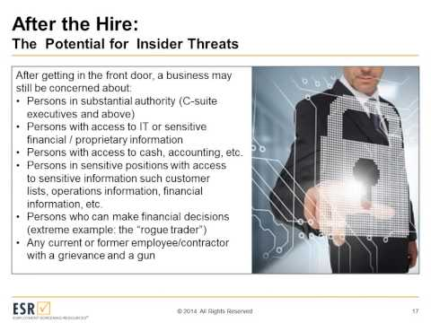 Strategies for Reducing the Insider Threat Before and After Hiring
