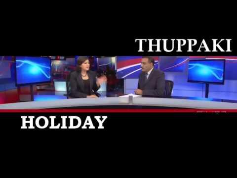 Holiday Hindi Movie 2014 Trailer Akshay Kumar Vs Thuppaki ORIGINAL Trailer Side By Side Compare