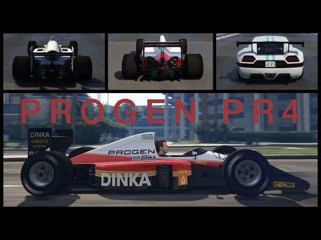 Progen PR4 - Customisation, performance et gameplay - GTA Online (voiture de F1)