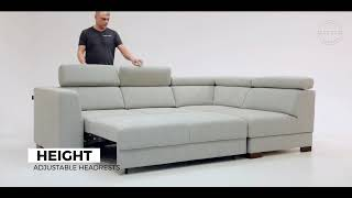 Halti Sectional Sofa Sleeper (Full XL Size) RHF by Luonto Furniture