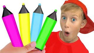 색칠공부를 하면 너는 장난감을 즐긴다? Magic Pen Learn Color with Funny Alex