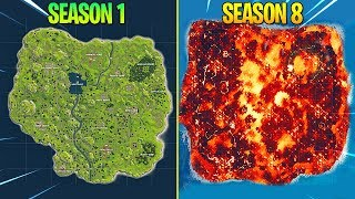 Evolution of Fortnite Island (Season 1 - Season 8)