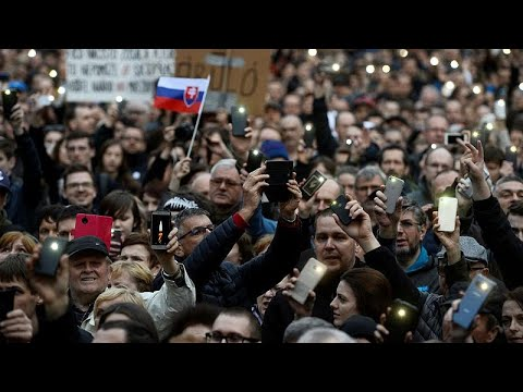 'We want a decent Slovakia,' demand protesters in Bratislava